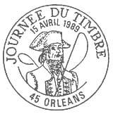Oblitération 1er jour le 15 avril 1989