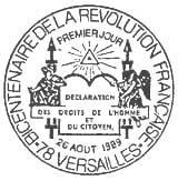 Oblitération 1er jour à Versaille le 26 aout 1989