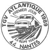 Oblitération 1er jour à Nantes le 23 septembre 1989