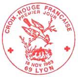 Oblitération 1er jour à Lyon 18 novembre 1989