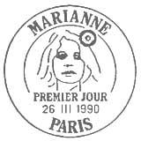 Oblitération 1er jour à Paris le 26 mars 1990