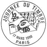 Oblitération 1er jour le 17 mars 1990