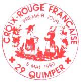 Oblitération 1er jour à Quimper le 5 mai 1990