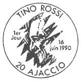 Oblitération 1er jour à Ajaccio le 16 juin 1990