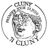 Oblitération 1er jour à Cluny le 23 juin 1990