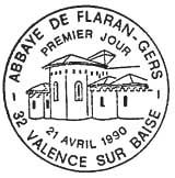 Oblitération 1er jour à Vallence sur Baïse le 21 avril 1990