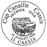 Oblitération 1er jour à Cassis le 1 juillet 1990