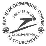 Oblitération 1er jour à Courchevel le 22 décembre 1990