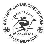 Oblitération 1er jour à Les Ménuires le 19 janvier 1991