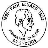 Oblitération 1er jour à St Denis le 23 février 1991