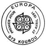 Oblitération 1er jour à Strasbourg le 27 avril 1991