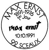 Oblitération 1er jour à Sceaux et Bonn le 10 octobre 1991
