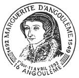 Oblitération 1er jour à Angoulême le 11 avril 1992