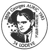 Oblitération 1er jour à Lodère le 11 avril 1992