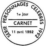 Oblitération 1er jour à Honfleur le 11 avril 1992