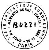 Oblitération 1er jour à Paris le 20 novembre 1992