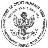 Oblitération 1er jour à Paris le 3 avril 1993