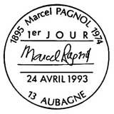 Oblitération 1er jour à Aubagne le 24 avril 1993