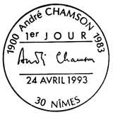 Oblitération 1er jour à Nimes le 24 avril 1993