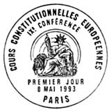 Oblitération 1er jour à Paris le 8 mai 1993