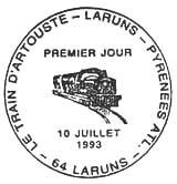 Oblitération 1er jour à Laruns le 10 juillet 1993