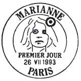 Oblitération 1er jour à Paris le 26 juillet 1993