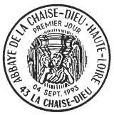 Oblitération 1er jour à La Chaise-Dieu le 4 septembre 1993