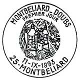 Oblitération 1er jour à Montbéliard le 11 septembre 1993