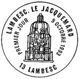 Oblitération 1er jour à Lambesc le 9 octobre 1993