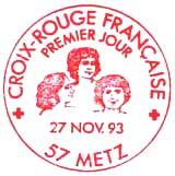 Oblitération 1er jour à Metz et Montréal le 27 novembre 1993
