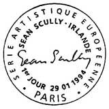 Oblitération 1er jour à Paris le 29 janvier 1994