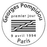 Oblitération 1er jour à Paris le 9 avril 1994