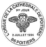 Oblitération 1er jour à Poitiers le 5 juillet 1994