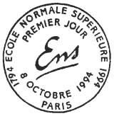 Oblitération 1er jour à Paris le 8 octobre 1994