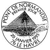 Oblitération 1er jour à Le Havre le 20 janvier 1995