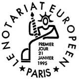 Oblitération 1er jour à Paris le 21 janvier 1995