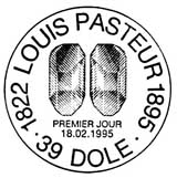 Oblitération 1er jour à Paris et Dôle le 18 février 1995
