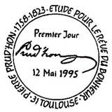 Oblitération 1er jour à Toulouse le 12 mai 1995