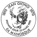 Oblitération 1er jour à Manosque le 25 mars 1995