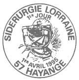 Oblitération 1er jour à Hayange le 1 avril 1995