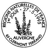 Oblitération 1er jour à Clermont-Ferrand le 27 mai 1995