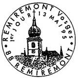 Oblitération 1er jour à Remiremont le 13 mai 1995