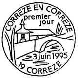 Oblitération 1er jour à Corrèze le 3 juin 1995
