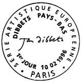 Oblitération 1er jour à Paris le 10 février 1996