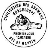 Oblitération 1er jour à St-Martin le 10 février 1996