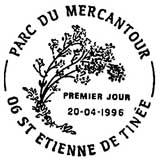 Oblitération 1er jour à Saint Etienne de Tinée le 20 avril 1996
