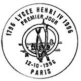 Oblitération 1er jour à Paris le 12 octobre 1996