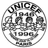 Oblitération 1er jour à Paris le 19 octobre 1996