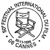 Oblitération 1er jour à Paris et Cannes le 30 novembre 1996