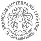 Oblitération 1er jour à Paris et château Chinon le 1 janvier 1997